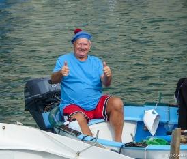 This jolly fisherman loved having his photo taken.