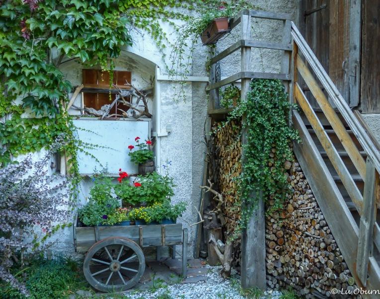 Inside the courtyard at Reifenstein Castle.