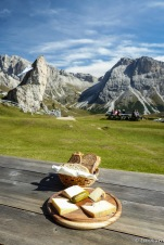Bread and cheese to sustain us along our trek