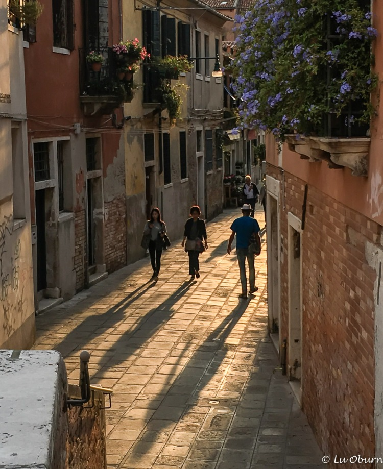 Getting deeper into Venice as the shadows lengthen