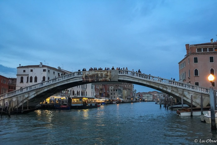 The Accademia Bridge near sunset.