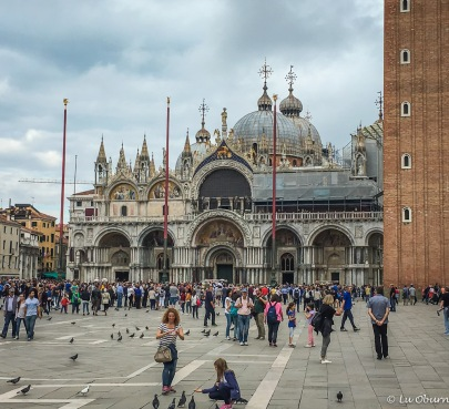 St. Mark's Square, enjoyed by tourists and pigeons in equal numbers