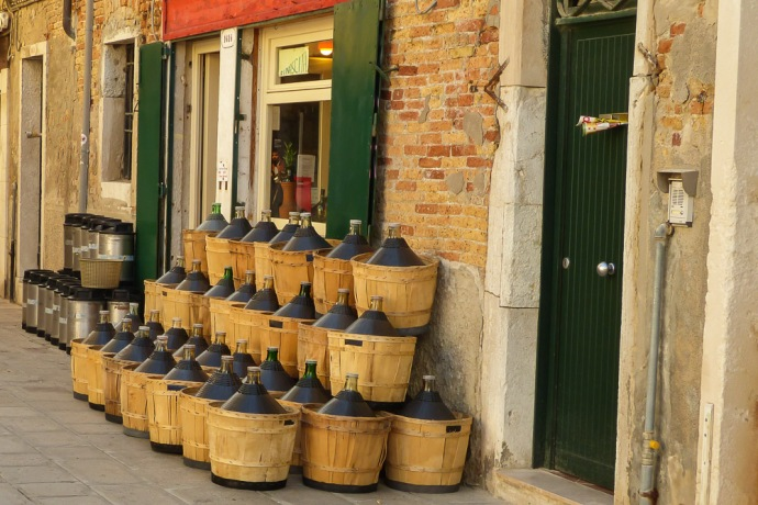 A batch of wine, waiting to be bottled