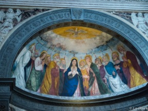 Beautiful murals adorn the walls and ceilings