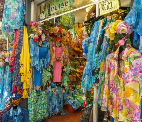 Profusion of color in this boutique shop