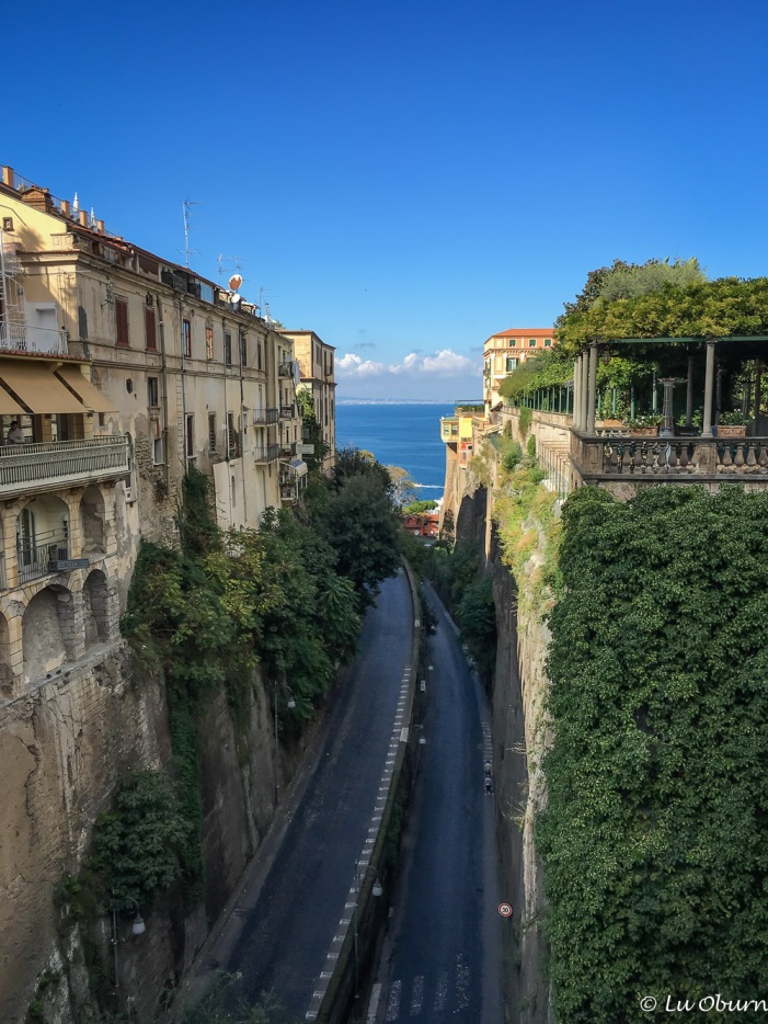 View to the sea from Piazza Tasso, Sorrento's main square