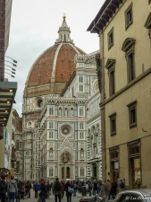 A shot of the Duomo from afar as we braced for the crowds.
