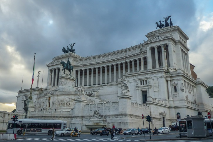 The massive, spectacular Victor Emmanuel Monument