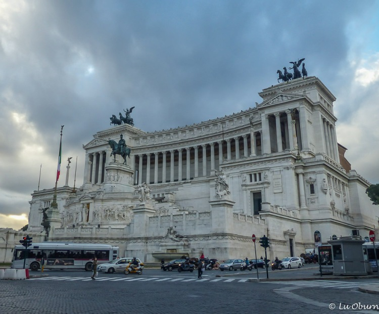 The massive, spectacular Victor Emmanuel Monument