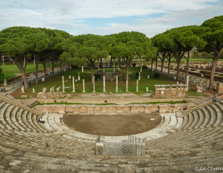Women sat in the higher seats, typical of the gender division in Rome. 4,000 could gather in the theater. Used for religious, business, and entertainment events This was an elegant building in its day.