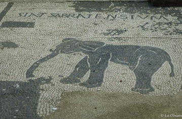 The elephant marks the office of Libyan traders.