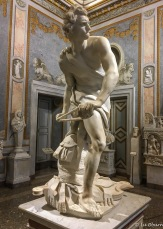 David, whose face is a self-portrait of 25-year old sculptor Bernini