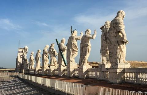Some of Bernini's 140 favorite saints, each 10 feet tall.