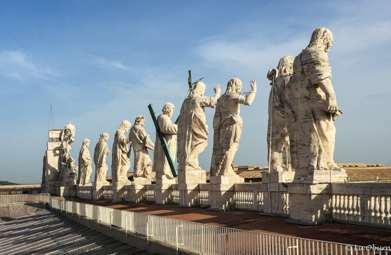 Some of Bernini's 140 favorite saints, each 10 feet tall.