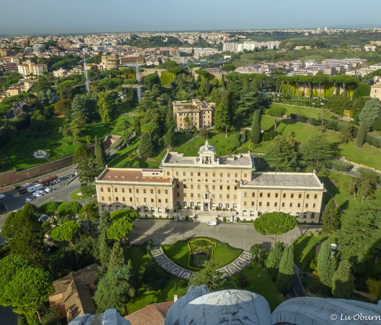 Vatican's manicured gardens