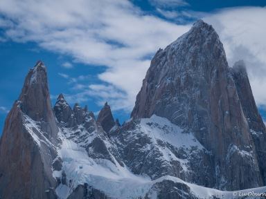 Fitz Roy, Cerro Torre, and many peaks in-between.