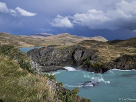 As the weather changed, so did the color of the glacial waters.