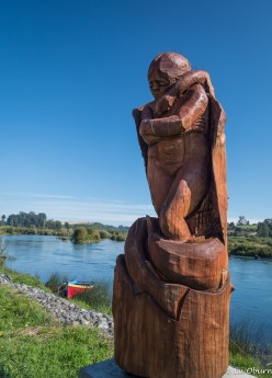 Life-size sculptures also found along the river.