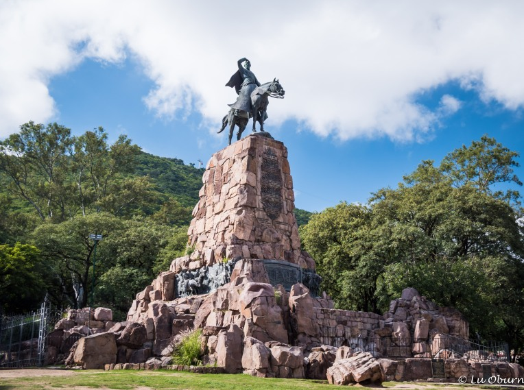 Statue of General Martin Miguel de Guemes, who defended Argentina from the Spanish.