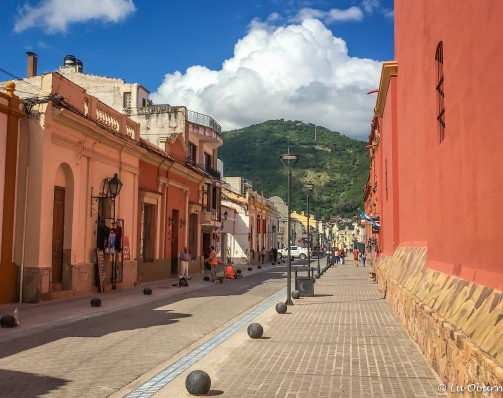 Street view outside La Tacita, one of the prettier streets in the city.