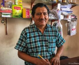 """Porfidio, proud owner of """"La Tacita"""" restaurant."""