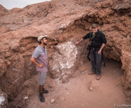 Pablo and one of the fun members of our group at the salt mines in Moon Valley.