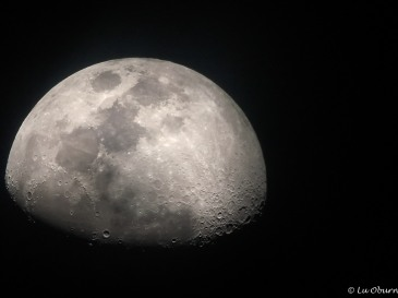 Close-up of the moon