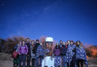 Our little night sky tour group...wonderful but cold night.
