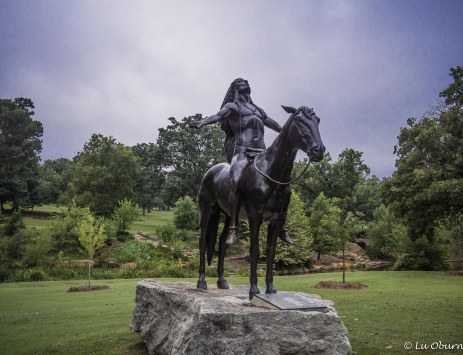 'Appeal to the Great Spirit' statue standing in Woodward Park
