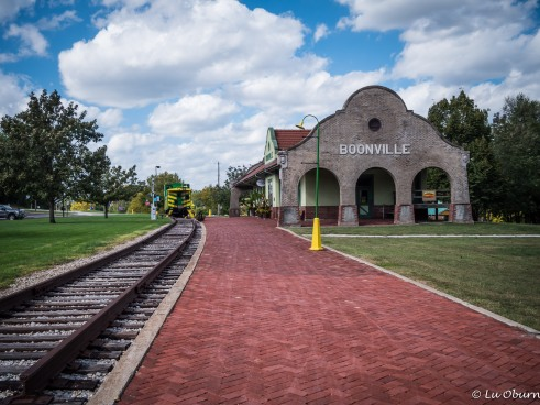 Old railroad station in Boonville, a small community along the Katy Trail.