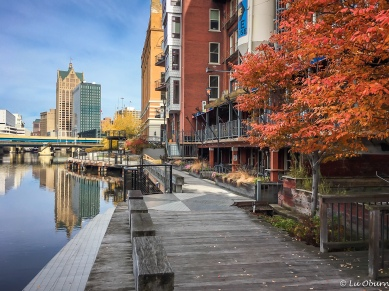 A rare warm fall day along the RiverWalk