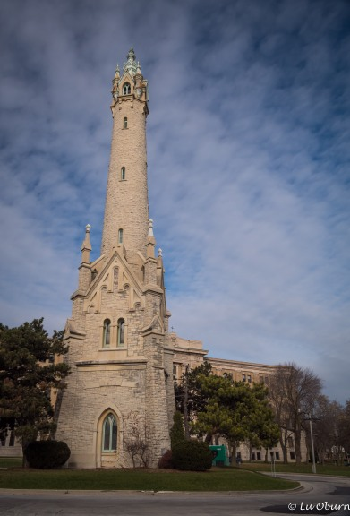 The Old North Point Water Tower also stands a few blocks from the lighthouse, in the Historic Water Tower neighborhood.