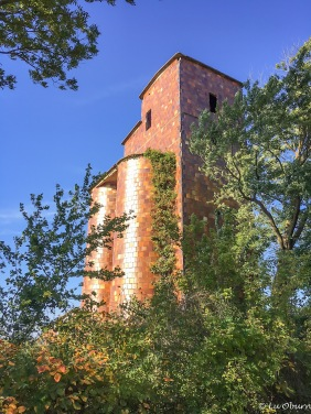 Old brick silo along the Katy.